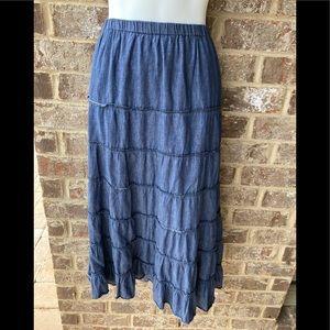 Metrowear blue skirt size large